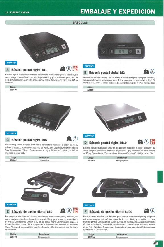 DYMO BÁSCULA S50 50 KG 30X30 PILAS/USB S0929020