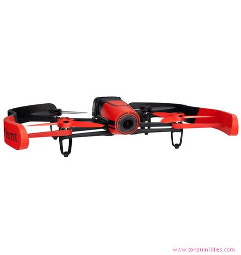 Drones con Camara PARROT BEBOP DRONE 14MP 1200MAH NEGRO, ROJO DRON CON CÁMARA