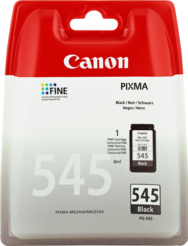 CANON CARTUCHO DE TINTA NEGRO PG-545 8287B001 180 PÁGINAS 8ML
