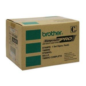 Montura de sellos SELLO NEGRO 30X30 MM PACK 6 BROTHER PR-1438B6P