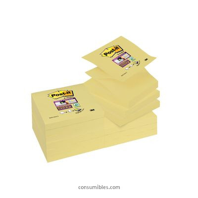 POST IT NOTAS ADHESIVAS STICKY Z NOTES PACK 12 BLOCS AMARILLO 76X76 MM 70005197796