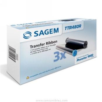 CINTA TRANSFERENCIA TERMICA PACK 3 SAGEM TTR480R