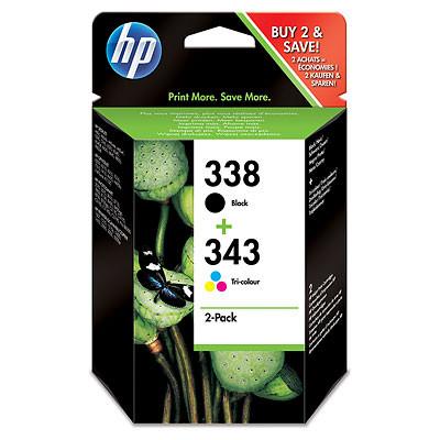 Cartucho de tinta CARTUCHO DE TINTA NEGRO-TRICOLOR PACK 2 HP Nº 338 + Nº 343