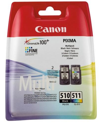 Cartucho de Tinta Negro - Colores Pack 2 Canon PG-510-CL-511