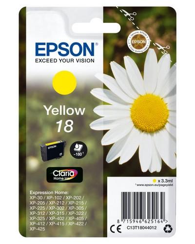 Epson Cartucho de tinta amarillo C13T18044012 T1804 180 Copias 3.3ml estándard