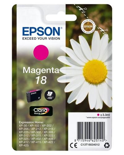 Cartucho de Tinta Magenta Claria Home Epson 18 - (T1803)