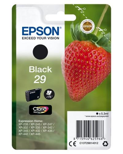Strawberry Cartucho de tinta Black 29XL Claria Home Ink
