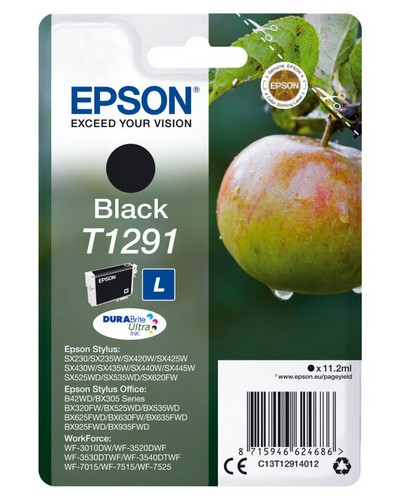 Cartucho de tinta negro C13T12914012 T1291 385 Copias 11.2ml