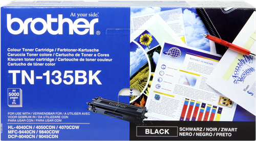 Cartucho de toner CARTUCHO DE TÓNER NEGRO BROTHER TN-135BK