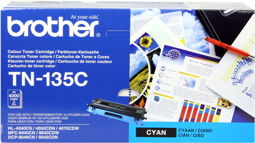 Cartucho de toner CARTUCHO DE TÓNER CIAN BROTHER TN-135C