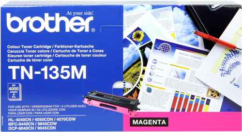 Cartucho de toner CARTUCHO DE TÓNER MAGENTA BROTHER TN-135M