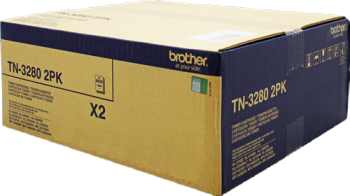 Comprar pack 2 cartuchos de toner TN3280TWIN de Brother online.