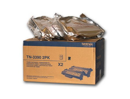 Comprar pack 2 cartuchos de toner TN3390TWIN de Brother online.
