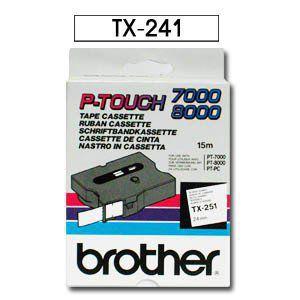 Comprar Cinta rotuladora 18 mm TX241 de Brother online.