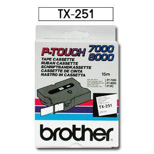 Comprar Cinta rotuladora 24 mm TX251 de Brother online.