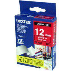 Cintas para rotular Brother BROTHER CINTA ROTULADORA LAMINADA ROJO - BLANCO 8M 12MM