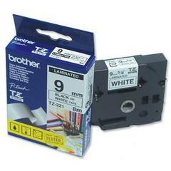 cinta rotuladora laminada negro Blanco 8M 9 mm