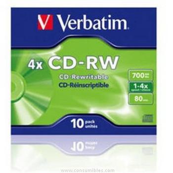 VERBATIM CD-RW 700 MB 2X-4X DATALIFEPLUS (PACK 10)