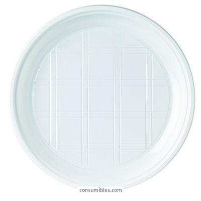 Catering HUHTAMAKI PACK DE 100 PLATO PLANO DE PLASTICO BLANCO FORMATO 215MM REF.W521C00A601