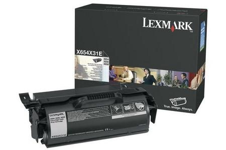 Comprar cartucho de toner 0X654X31E de Lexmark online.