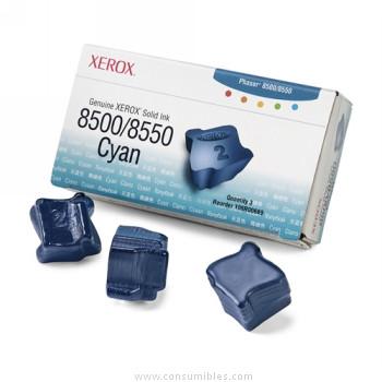 CARTUCHOS DE TINTA 3 BARRAS TINTA SOLIDA CIAN XEROX-TEKTRONIX 108R669
