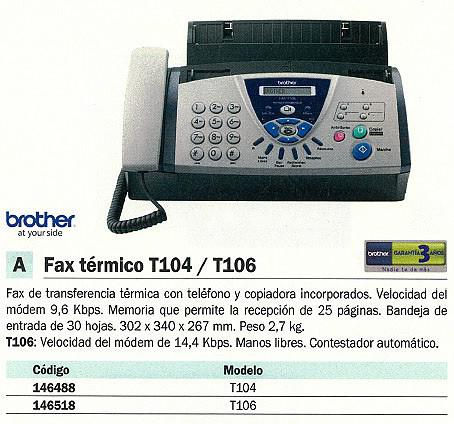 146518: Imagen de BROTHER FAX TERMICO