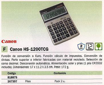 818875: Imagen de CANON CALCULADORA SO