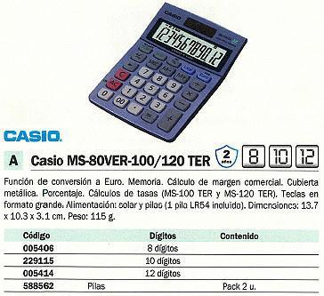 005414: Imagen de CASIO CALCULADORA SO