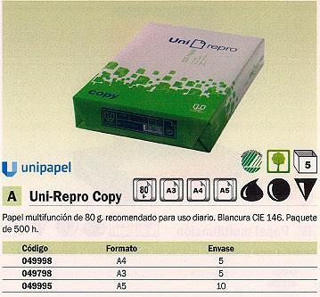 049798(1/5): Imagen de UNIREPRO COPY PAPEL